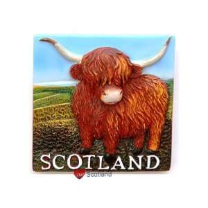 Fridge Magnet Resin Highland Cow Toys & Games