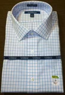 Mens Croft & Barrow White/ Pink w/ Plaids Dress Shirt Classic Fit