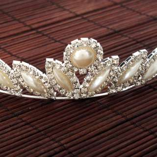 New Wedding Bridal Tiara Sunflower Shaped Rhinestones Crown Hair Comb