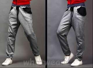 Fashion Mens Casual Sport Trousers Harem Pants Black Z1223