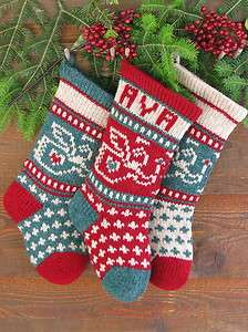 Baby Angel Knitting KIT Babys First Christmas Stocking SPRUCE GREEN