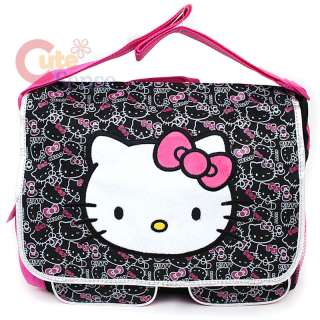 Kitty School Messenger Bag / Diaper Bag Big Face & Outlines
