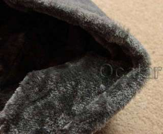 Colors Women Slim Cotton and Faux Fur Hoodie Jacket Coat Outerwear