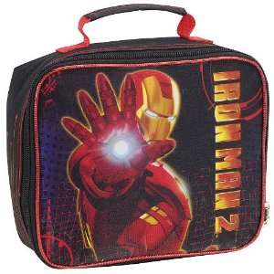 Iron Man 2 Lunch Kit Black and Red Fast Forward Backpacks