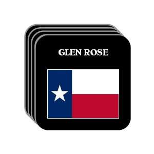 US State Flag   GLEN ROSE, Texas (TX) Set of 4 Mini Mousepad Coasters