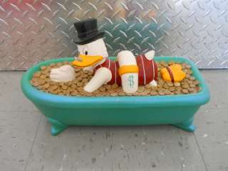 DISNEY SCROOGE MCDUCK MC DUCK BATHTUB SCULPTURE rare needs work