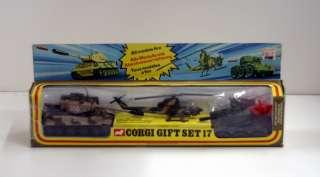 CORGI TOYS 17 GIFT SET TIGER MK1 TANK BELL AH 1G HELICOPTER SALADIN