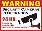 Lot CCTV Video Camera Warning Sign Window Door Sticker