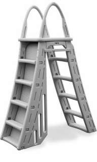 CONFER 7200 Guard Heavy Duty A Frame Aboveground Swimming Pool Ladder