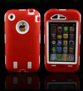 Silicone Rubber Soft Skin Cover Hard Case Protect F iPhone 3G 3GS