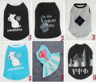 Small Pet Dog Clothes T Shirt shirts Dress Vest Type size XS S M L