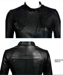 Motorcycle Jacket Cool Black Soft Leather Coat Woman Slim Jackets New