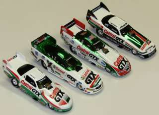 FORCE CASTROL GTX RACING FUNNY CARS 4 Car Set 164 Die Castrol