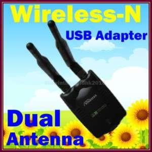 High Power Wifi Wireless N USB Adapter Dual Antenna