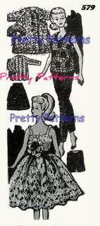 11½ BARBIE Doll Clothes KNIT CROCHET Wardrobe Pattern