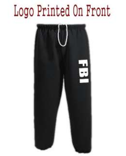 FBI Logo Decal Design Black Warm ups sweas Sweapans |