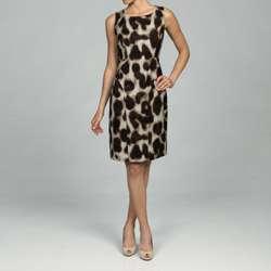 Calvin Klein Womens Cheetah print Sheath Tank Dress