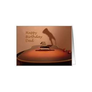 Happy Birthday Dad   music guitar Card: Health & Personal Care