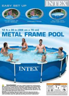 NEW Intex 12x30 Metal Frame Above Ground Swimming Pool Set w/ Filter
