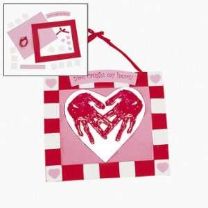 Handprint Heart Keepsake Hanger Craft Kit   Craft Kits