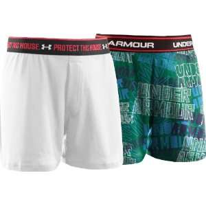 Boys 2 Pack Printed Holiday Boxer Short Bottoms by Under Armour