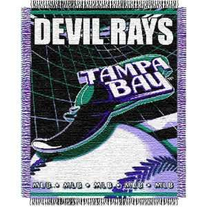 Tampa Bay Rays Major League Baseball Woven Jacquard Throw Sports