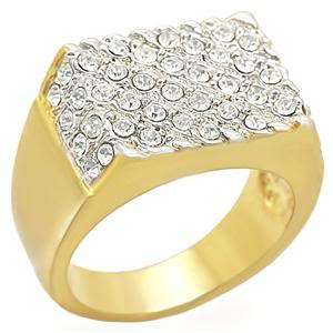 14K Mens Gold Plated Swarovski Crystals Austrian Crystal Ring Size 10