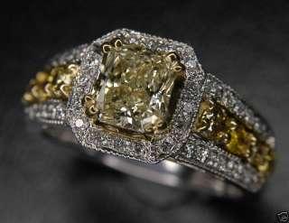 06 FANCY YELLOW DIAMOND ENGAGEMENT RING 100% NATURAL