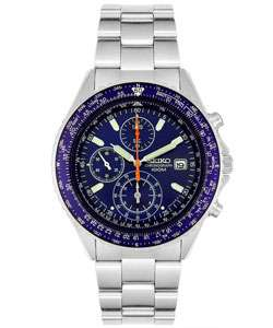 Seiko Mens Stainless Steel Chronograph Watch