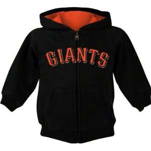 San Francisco Giants Black Toddler Fleece Full Zip Hooded Sweatshirt