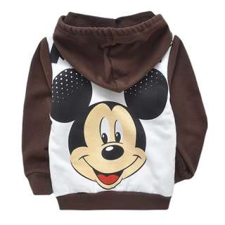 Coffee Baby Toddler Kids Boys Mickey Long Sleeve Hoodie Top 2 8 Years