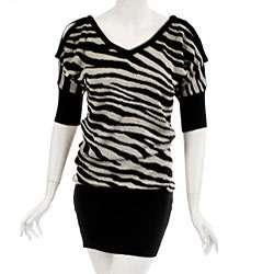 JFW Womens Zebra Print Sweater Dress