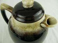 Pfaltzgraff Pottery Gourmet Brown Drip Tall Coffee Pot Server #490 57