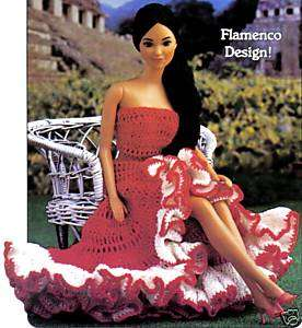 FLAMENCO Design Senorita/Fashion Doll/Crochet Pattern