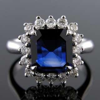91CT SAPPHIRE & .71CT DIAMOND DIANA INSPIRED 18K RING