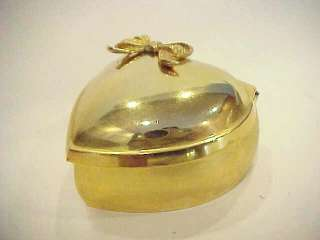 Vtg Heart Shaped Gold Tone LINDEN Music Jewelry Box Plays Memory   TLC
