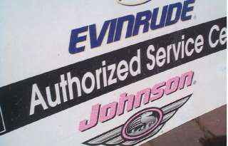 Vintage Evinrude Johnson Outboard Boat Motor Metal Advert Sign Fishing