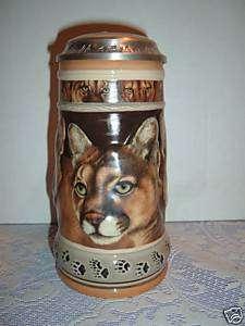 Anheuser Busch Budweiser Mountain Lion Stein gl17