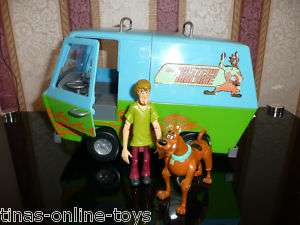 SCOOBY DOO MYSTERY MACHINE RUMBLE & RACE VAN + 2 FIGS***VGC