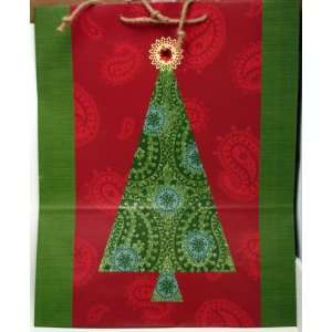 Christmas XGB9846 X Large Green Tree on Red Gift Bag