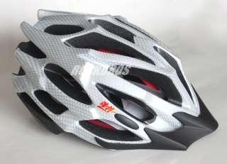 HAOHAN Bike MTB Pro Cycling Helmet Size L Silver White 58 61cm