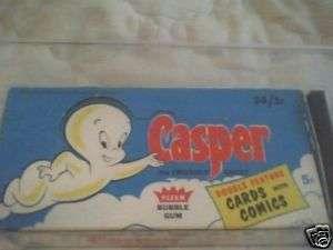 1960 FLEER CASPER 5 CENT WAX PACK GUM CARD DISPLAY BOX GAI 8 OFFER OK