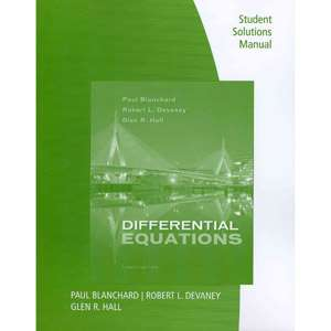 Differential Equations, Student Solutions Manual