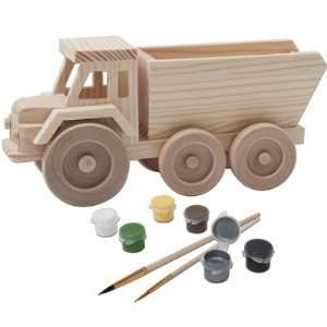 Toy Dump Truck 3D Wood Paint Kit: Toys & Games