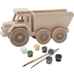 Toy Dump Truck 3D Wood Paint Kit: Toys & Games