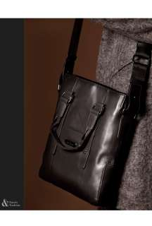 mens new Cowhide shoulder (iPad,laptop) brown black bags handbags A411