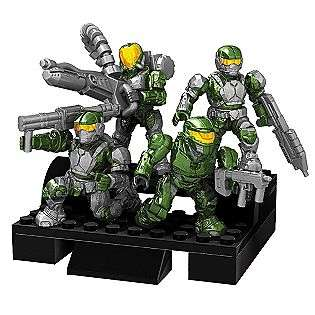 Mega Bloks Halo Wars Troop, Green Combat Unit  Toys & Games Blocks