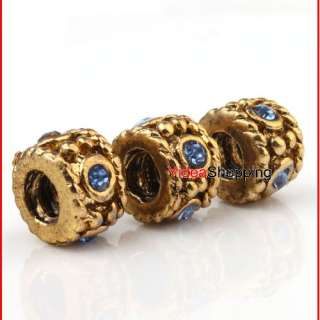 Multicolor Rhinestone European Beads Fit Charm Bracelet To Choose