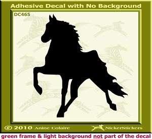 Tennessee Walker Horse Trailer Window Decal Sticker 465