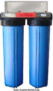 DUAL BIG BLUE WATER FILTRATION w/Carbon sediment filter